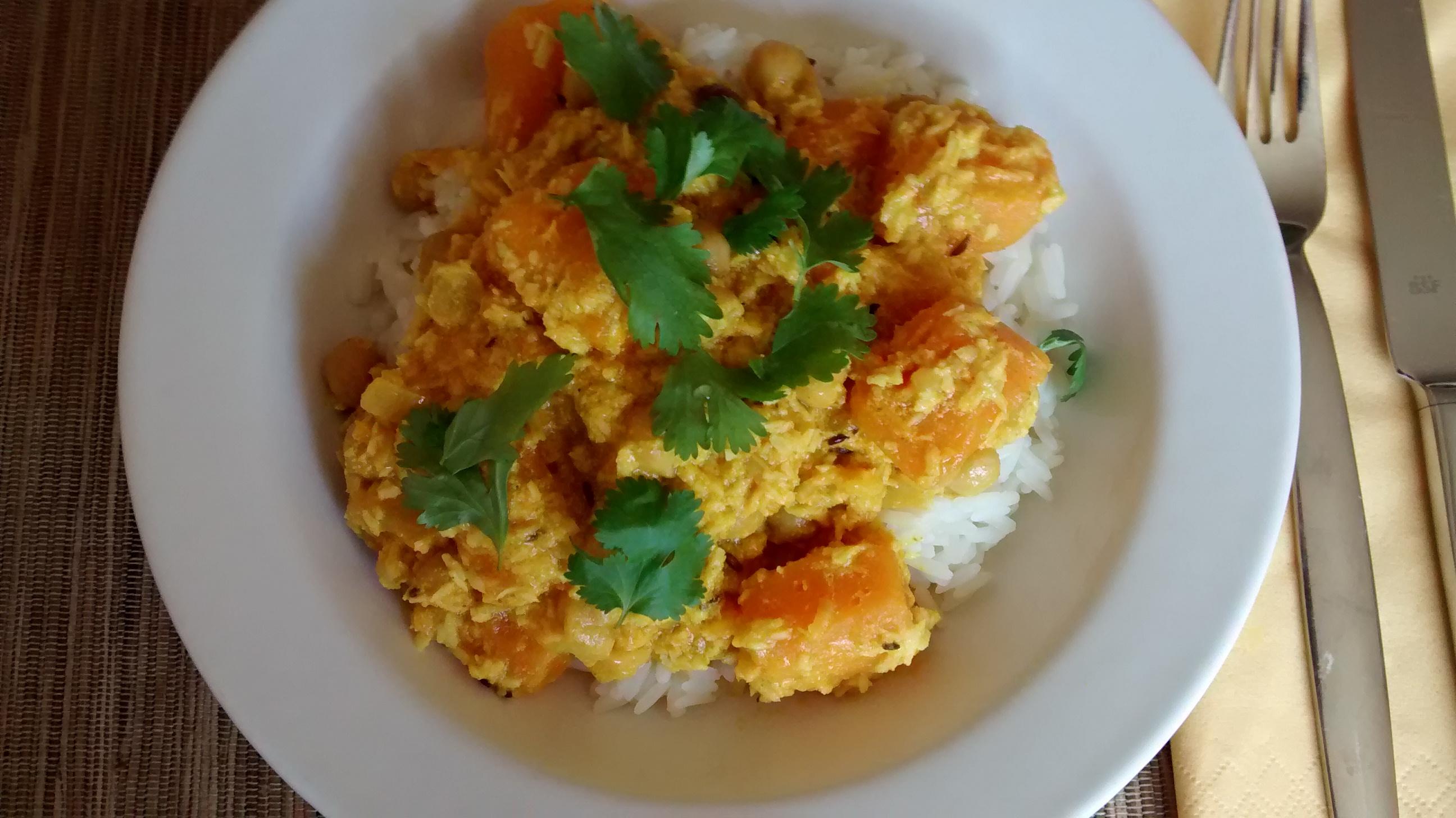 Kürbis-Kichererbsen-Curry