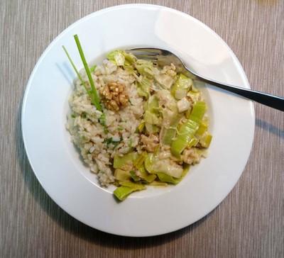 Reis mit Lauch
